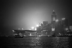 . (glynbrownson) Tags: hp5 highcontrast hongkong atmosphere analogue mood monochrome film night blackandwhite bw nikonem city metropolis dark 35mm urban view