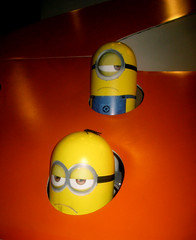 Despicable Me 2 Whack A Mole Minion Game Standee  0201 (Brechtbug) Tags: street new york city nyc 2 two game me yellow computer movie poster theater with theatre cartoon billboard lobby animation critters amc mole 34th whack gru sequel despicable minion standee henchmen standees 2013 a 05202013