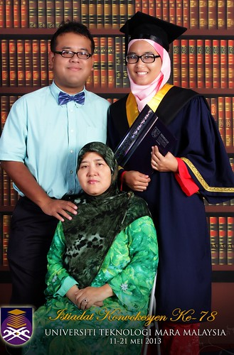family. on her graduation day