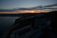 St. John's, Signal Hill. Harbor View (SvenBergstrm) Tags: sunset canada clouds newfoundland sunsets stjohns signalhill cannons