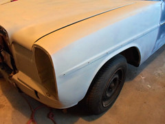 Front fender replaced (dave_7) Tags: mercedes benz fender bodywork 220d
