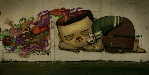 Sleeping grafitti