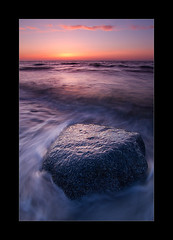 Stone/Sea/Clouds (hmnx) Tags: sunset seascape rock stone clouds waves wave balticsea nienhagen gespensterwald spookyforest