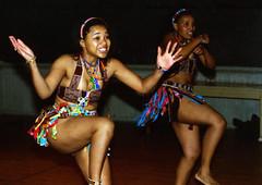 Himosha Zulu Dancers Walt Whitman Cultural Arts Centre Camden Feb 1998 098 Nomsa & Siso (photographer695) Tags: himosha zulu dancers walt whitman cultural arts ctr camden feb 1998 centre nomsa siso