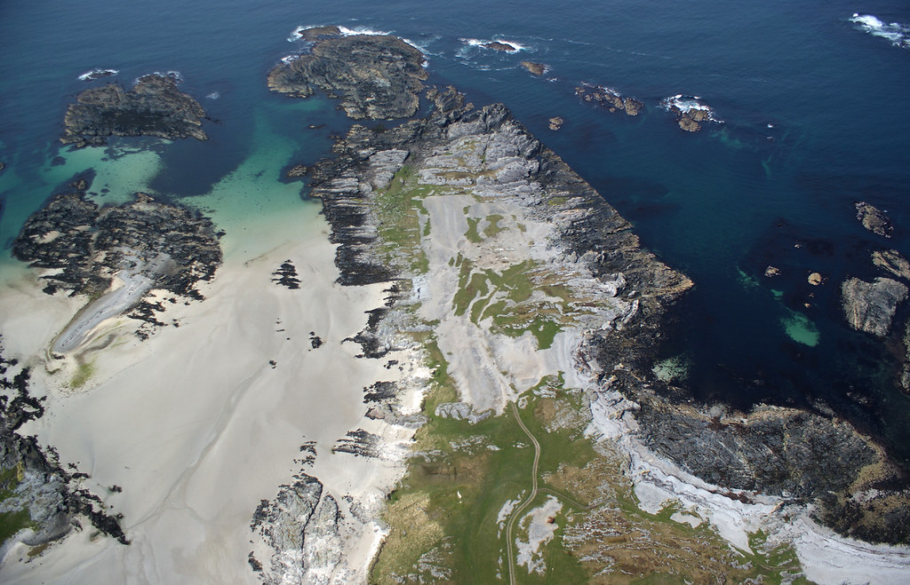 Beach on Colonsay, waiting for us to land