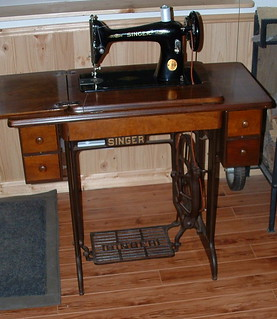 Singer 66 Treadle in Cabinet