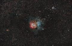 Trifid Nebula - M20 (Teva CHENE) Tags: canon astronomy celestron xsi m20 c14 baader trifidnebula 450d pixinsight starizona messier20 hyperstar backayrdeos