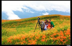 nEO_IMG_IMG_0710 (c0466art) Tags: trip travel flowers blue light red summer sky white mountain color beautiful yellow clouds canon landscape amazing scenery view many hill taiwan visit tourist east 5d 2012  c0466art