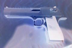 Desert Eagle (Ascendaeus) Tags: gun rifle handgun 50 magnum deserteagle handcannon 50ae satinnickel magnumresearch notlegalincalifornia