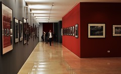 Ara Pacis -Mostra Sebastio Salgado (MissTitty) Tags: people italy rome reflection journey interiorarchitecture sebastiosalgado arapacis mygearandme vigilantphotographersunite