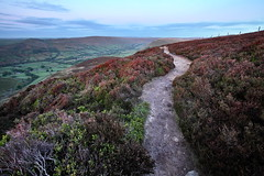 High Above Edale (matrobinsonphoto) Tags: park morning mountain up sunrise landscape hope dawn early high track path heather district seat derbyshire hill peak scout kinder national valley edge roger lords ringing edale rushup