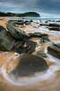 Mykal @ Work (Rodney Campbell) Tags: ocean sunset seascape beach water rocks australia newsouthwales cpl forresters forrestersbeach gnd06
