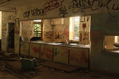 Abandoned Cafe (Reid A.) Tags: park urban hospital island graffiti long destruction kings exploration asylum psychiatric