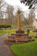 Churchyard Cross, The Parish Church of the Holy Ghost, Pound Orchard, Crowcombe (DC-7C) Tags: red building church monument parish ancient sandstone cross somerset orchard churchyard pound listed calvary 3step holyghost c14 octagonal scheduled gradeii crowcombe img41430