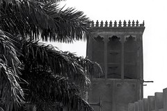1980 Wind Tower (now Ethnographic Museum) 23 (Phytophot) Tags: bw buildings 1980 windtower doha qatar