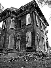 End of the road in Mantua Ohio (drei88) Tags: ohio abandoned demolition hauntedhouse hiram mantua secondempire mansard nationalregisterofhistoricplaces portagecounty garrettsville mantuacorners williamhcrafts