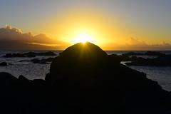 North Shore (KatieWhitaker) Tags: ocean sunset sun beach water silhouette hawaii coast rocks pacific maui shore northshore