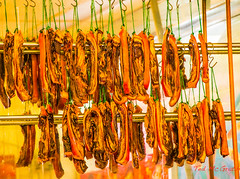 Pork Belly (Ted's photos - For Me & You) Tags: vancouver chinatown display meat pork hanging vancouverbc meatmarket cans2s tedsphotos