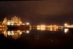 Port Adelaide Dock at Midnight (Seaside-Mike) Tags: lighting reflection night reflections dock sailing ship waterfront pentax harbour australian relaxing sigma peaceful australia tint nightshift historic midnight adelaide southaustralia loading dockside portadelaide kr5 pentaxart portadelaidex