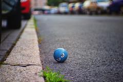 blue. (angsthase.) Tags: road blur cars ball germany deutschland bokeh nrw ruhrgebiet dortmund ruhrpott mft 2013 cmount micro43 olympuspenepl1 fujian35mmf17