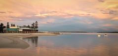 GRSC @ sunset-2 (Mariasme) Tags: sunset panorama reflection beach botanybay iphone gamewinner matchpointwinner georgesriversailingclub gamex3winner gamex2sweepwinner friendlychallengessweep gamex3sweepwinner favescontestfavored mpt297