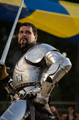 Sir Maxx shows the Earl where he can kiss... (Pahz) Tags: horses horse helmet armor lance sword knight shield renfaire joust bristolrenaissancefaire renfest jousting helm jousters thejousters encranche