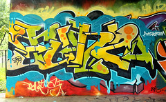 graffiti (wojofoto) Tags: amsterdam graffiti streetart wojofoto hof flevopark amsterdamsebrug wolfgangjosten nederland netherland holland