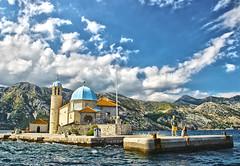 St George Island, Montenegro (Tiago Caramuru) Tags: old sea summer sky mountain lake beach architecture island europa europe montenegro