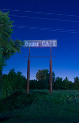 Deuce CAFE (Nocturnal Kansas) Tags: longexposure nightphotography lightpainting night nocturnal gas gasstation fullmoon kansas paintwithlight nocturnes nocturnalkansas