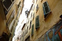 Rue de la Glacire Toulon (jeffandcompagny) Tags: street sea sun mer france art colors yellow port jaune design soleil couleurs south ctedazur provence rue var ville sud volets portes mditerrane toulon