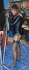 Spandex Camera Girl! (kaceycd) Tags: stockings lingerie tgirl bodysuit pantyhose crossdress spandex lycra tg leotard nylons garterbelt garters suspenderbelt ffstockings rhtstockings