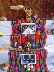 Day of the Dead Altar (shaire productions) Tags: flower halloween floral dayofthedead photography oakland photo petals colorful image picture pic petal altar event photograph diadelosmuertos muertos annual alter fruitvale imagery calveras