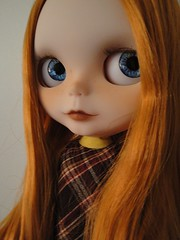 Percy's striking red hair and awesome blue eyes