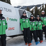 13/14 BC Ski Team Women (left to right) JP Daigneault, Alix Wells, Charley Field, Emma King, Johnny Crichton PHOTO CREDIT: Gordie Bowles