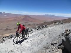 Still descending Uturuncu (Pikes On Bikes) Tags: high hiking altitude bikes bolivia biking pikes sud volcan lipez uturuncu