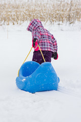Sled Riding 2013-6 (TheDarrenSharp) Tags: winter evelyn 3yearsold sledriding