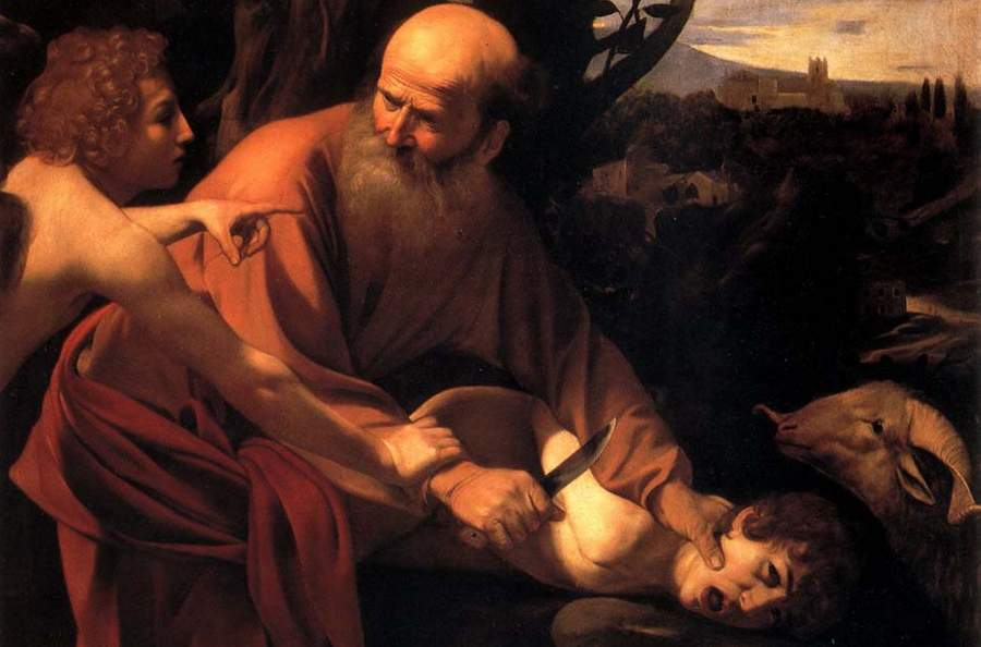 Жертвоприношение Авраама, картина маслом, Караваджо