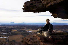 Life on the Edge (mzistel) Tags: park dog rock oregon husky mt view state smith explore hood siberian smithrock