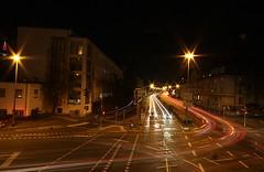 (Lys de Kerk) Tags: city urban streets cars night canon eos lights frankfurt wideangle frankfurtmain sigma1020 450d canoneos450d