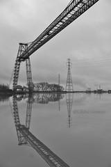 Newport transporter bridge! (claire.con) Tags: uk bridge blackandwhite wales landscape south newport transporter