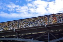 Paris au bord de la Seine 21 le Pont des Arts (paspog) Tags: bridge paris france seine bank pont riverbank brcke quai pontdesarts auborddelaseine quaidelaseine