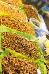 Tasty! (Dazzak) Tags: food thailand eating bugs nightmarket phuket streetfood exoticfood
