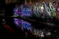 DoubleVision: OnGrey-Scenery  Night-Pieces BXXXIV - 1268x (Jupiter-JPTR) Tags: reflections germany graffiti character cologne vehicles colonia oh vans nightshots halloffame patch ccaa doublevision sime nightvisions ges jptr nychos hallb hallworks nightpieces serialsensembles serialongrey vision:outdoor=06 vision:plant=066 vision:sky=0599