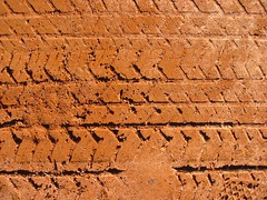 Tire Tracks in Red Clay (smenjas) Tags: texture country