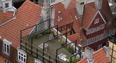 In the midth of the red tiled roofs of Copenhagen's old town. (tiexano) Tags: tower church copenhagen observatory kopenhagen københavn trinitatis rundetårn theroundtower trinitatiscomplex christianivofdenmark stellæburgiregiihauniensis