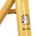 Seat Tube on Gunnar Ruffian Single Speed in Bamboo with Black Bullseye Decals.
