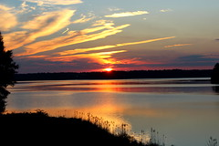 Colors of the Sunset (Sam0hsong) Tags: sunset day cloudy northcarolina lakecrabtree blueribbonwinner