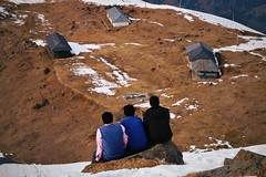 Dil Chahta Hai (Sougata2013) Tags: travel winter friends people india snow cold travelling ice landscape fun nikon friend village friendship january tourist traveller huts enjoy shelter mandi birdseyeview himachal topview himachalpradesh 2014 friendsforever dilchahtahai toppoint prashar prasharlake prashartemple