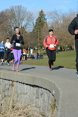 First Half Feb 16 2014 101113 (gherringer) Tags: canada vancouver race outdoors athletics downtown bc exercise britishcolumbia competition running seawall runners englishbay stanleypark colourful westend fit active bibs 211km 131mi vanfirsthalf