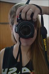 -autoretrato- (agustinaregojo) Tags: auto camera me girl smile hair happy mirror eyes nikon retrato teeth autoretrato piercing blonde